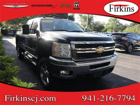 pre-owned 2011 chevrolet silverado 2500hd ltz 4d crew cab in bradenton  #09074b | firkins cdjr